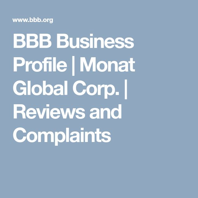 BBB Business Profile | Monat Global Corp. | Reviews and Complaints