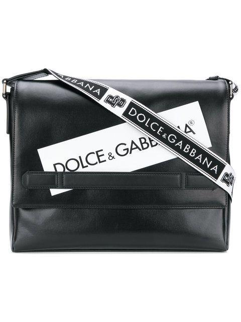 d0e7c0b07f8 DOLCE & GABBANA logo panel messenger bag. #dolcegabbana #bags #shoulder bags  #polyester #cotton #