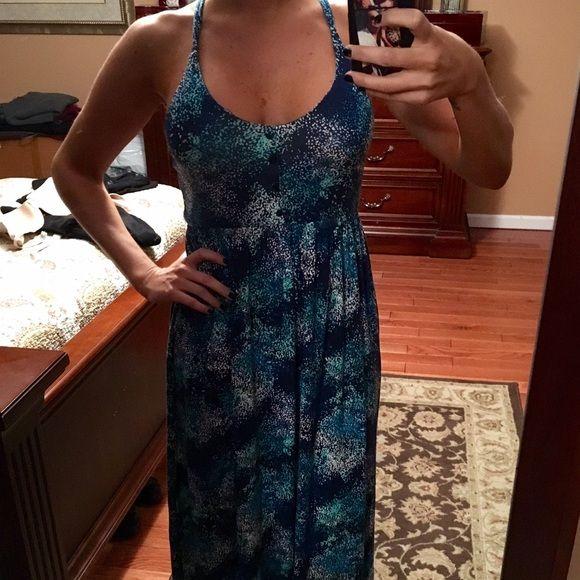 Shades of Blue Sundress Beautiful to the floor length sundress .. All hues of blue Dresses Maxi