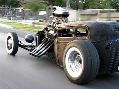 #RatRod | Imagine the looks you'd get driving this Beast in peak hour! #Ford #CustomCar.