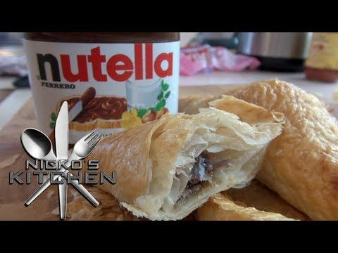 NUTELLA PASTRY PUFFS - Nicko's Bakery - YouTube