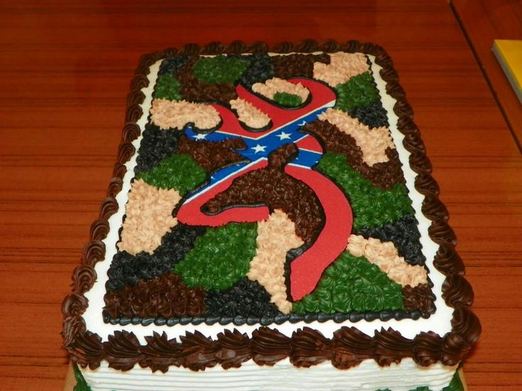 Lucas's other 18th birthday cake...He loves hunting and The Confederate Flag...Combined the two...He loved it...