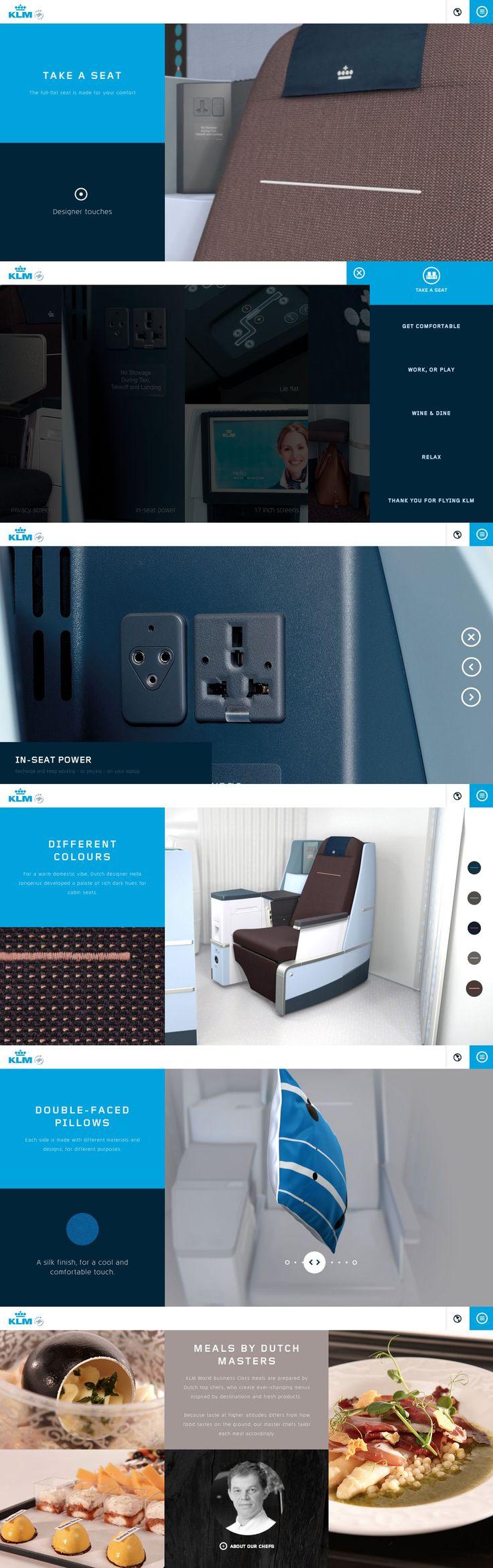 KLM - World Business Class  Clean, smooth & beautiful. http://wbc.klm.com