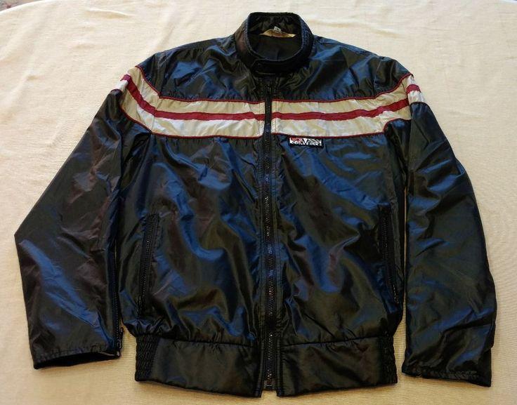 VINTAGE Mens Chevy Corvette Satin Mid America Full Zip Jacket Sz Small Blue EUC #MidAmericaCorvetteSupplies #Casual