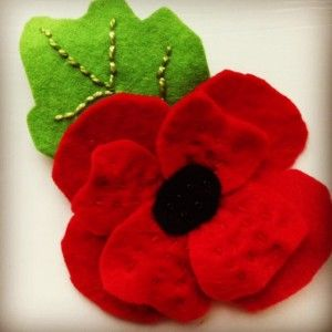 Remembrance Day Poppy in Felt