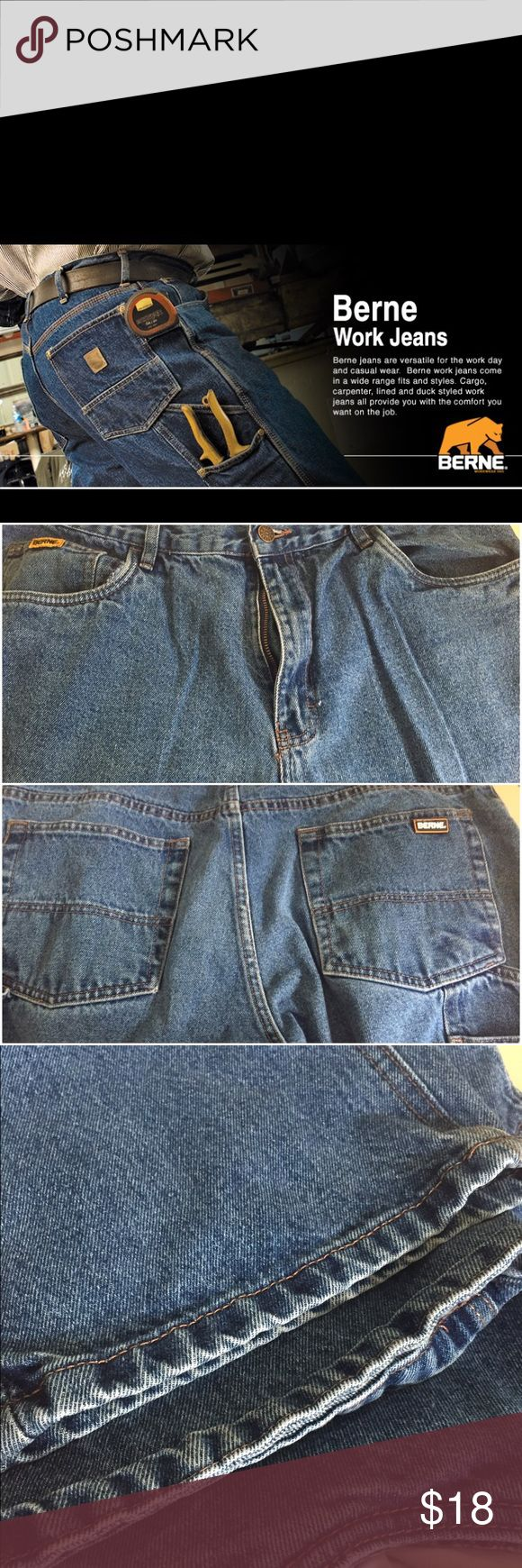 MENS CARPENTER JEANS   BUY ANY 5 GET 50% OFF Excellent condition. 36/30 Berne Jeans