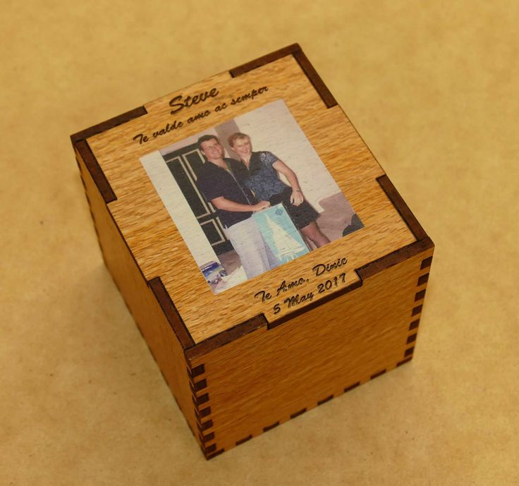 Whisky glass in custom wooden presentation box. Layout is prepared and emailed from your order for your approval