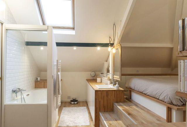 les 11 meilleures images du tableau suite parentale chambre avec salle de bain sur pinterest. Black Bedroom Furniture Sets. Home Design Ideas