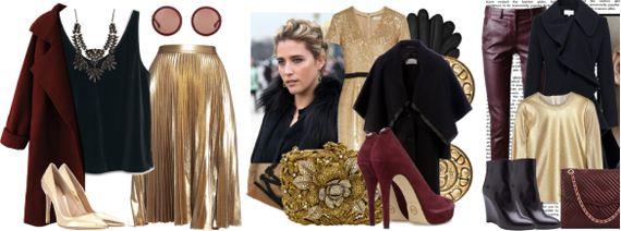 Бордово черно золотое в одежде
