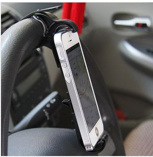 New arrived universal Steering wheel phone Cradle Mount holder Smart Clip Car/ Bike for Mobile Phone car accessories
