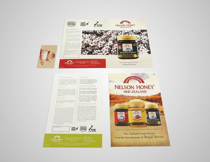 Nelson Honey New Zealand Contacted Us to design some advertisement brochures and posters, was a great time nice people and great Honey!
