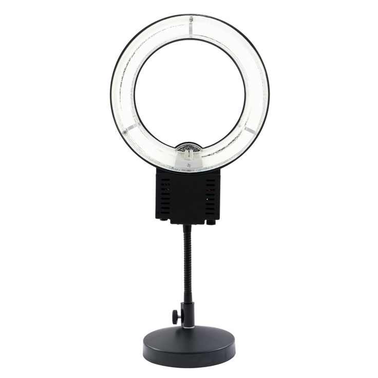 Who says size matters? Our Desktop Vanity Ring Light is the perfect solution for lighting that hails from heaven without the worry of storage. The likes of which you've seen used by the industry's top influencers and celebrities, this light makes everyone's star shine all the brighter. • Available in Black • One light setting • Small size allows for perfect portability option