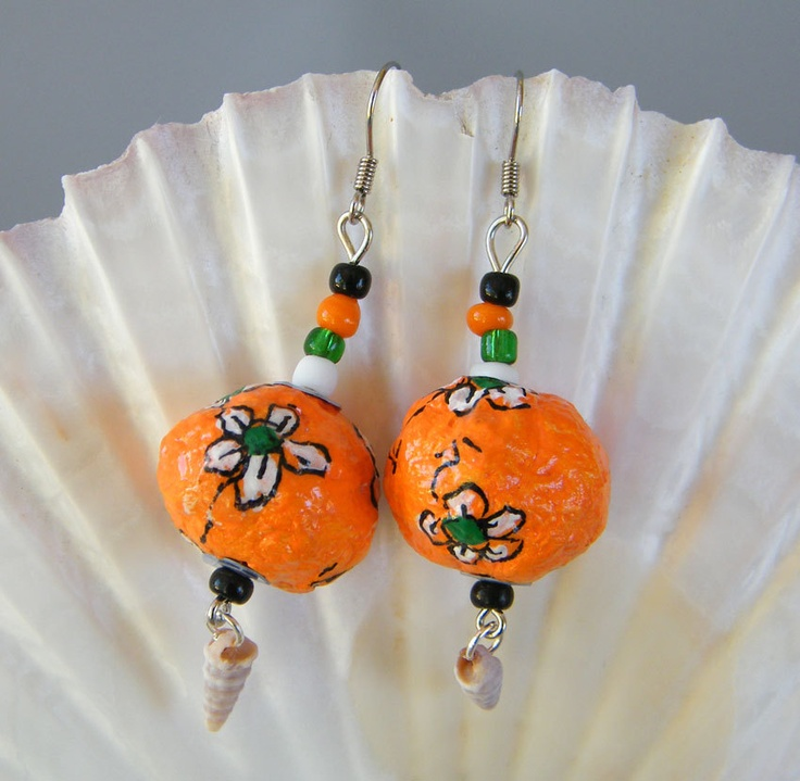 43 best images about paper mache beads on pinterest for How to make paper mache jewelry