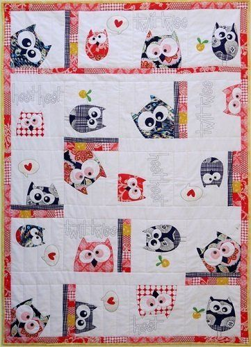 """""""Family Of Owls - Quilt"""" designed by Claire Turpin for Claire Turpin Designs."""