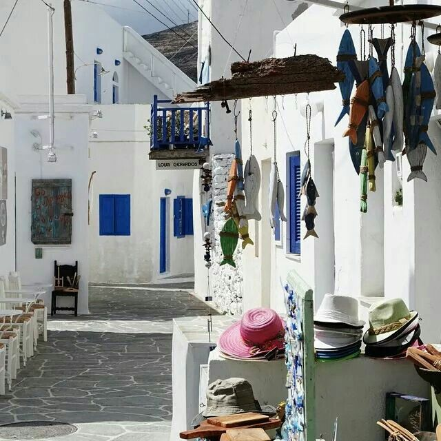 Charming little street in Folegandros island!