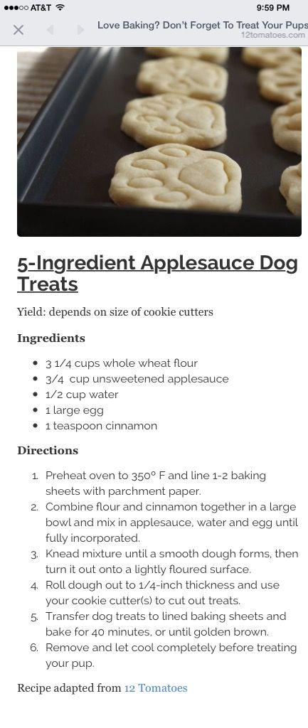 Applesauce dog treats
