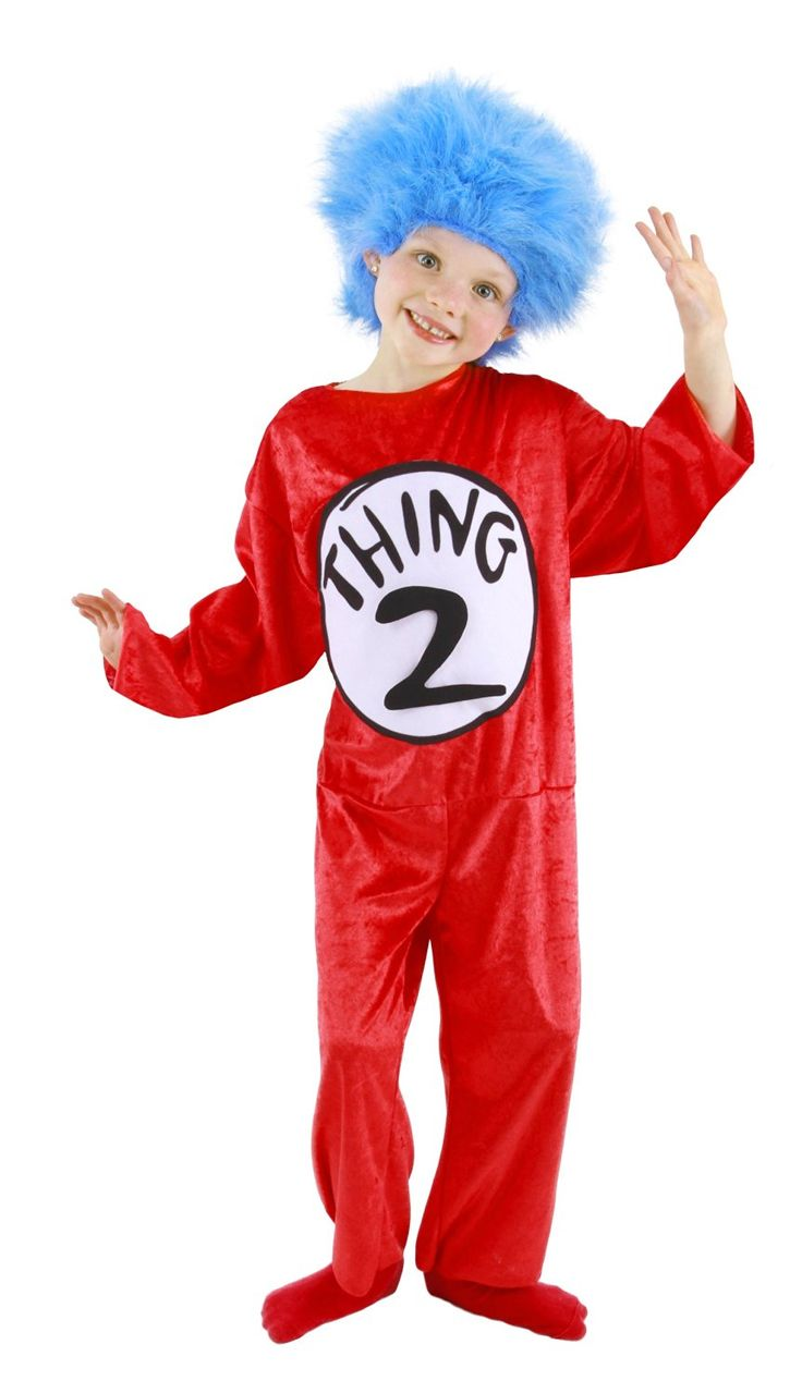 dr seuss thing 1 or thing 2 toddlerkids costume startling review