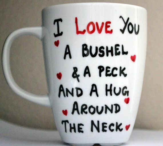 sneakers outlet nyc I Love You A Bushel And A Peck Coffee Mug 12 oz by DreamAndCraft   15 00