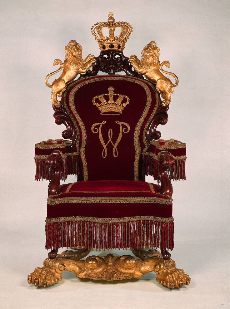 Throne Of King Willem Iii The Netherlands Ca 1850