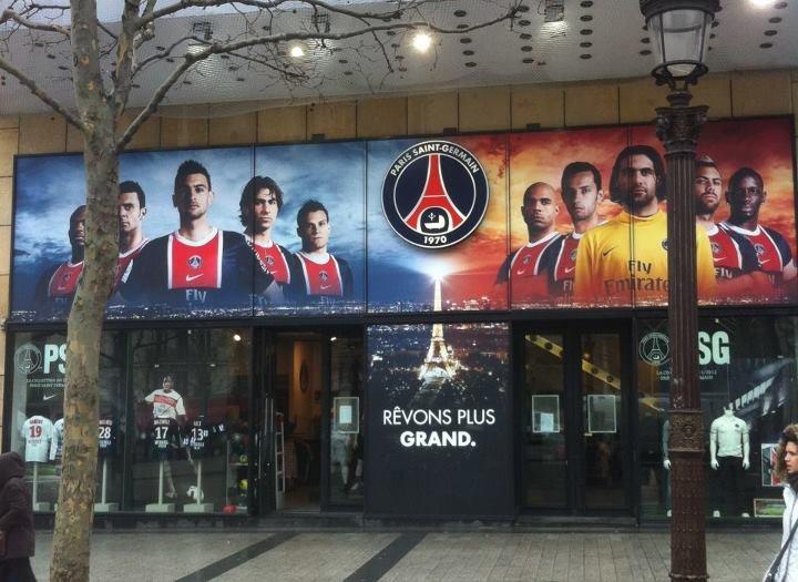 Habillage Boutique Champs Elysées