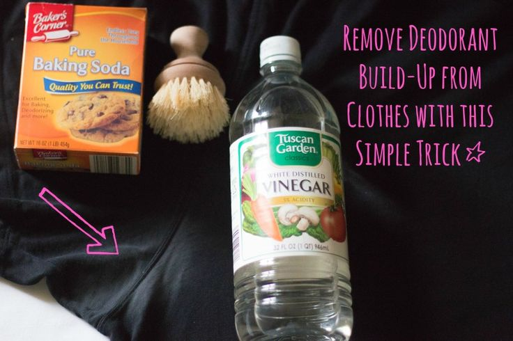 How to remove deodorant stains from clothing with this simple trick (graphic)