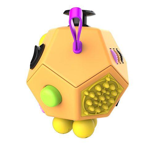 Fidget Cube version 2 yellow Plastic fidget cube. cheap fidget cube purple. More features than a standard fidget cube. Our fidget toy has 12 sides guaranteed