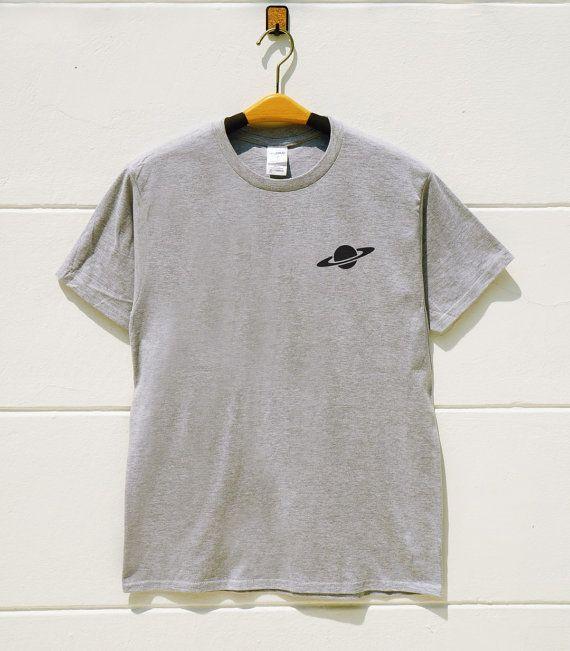 XS S M L XL Pocket Tee Shirts Saturn Tee Shirts by monopoko