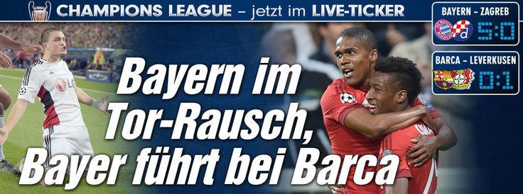 FCBayern 5:0 http://sportdaten.bild.de/sportdaten/uebersicht/sp1/fussball/co19/champions-league/#sp1,co19,se18454,ro58798,md0,gm2,ma2479943,pe0,to0,te0,ho209,aw489,rl0,na4,nb2,nc1,nd1,ne1,jt0, Leverkusen 1:0 http://sportdaten.bild.de/sportdaten/uebersicht/sp1/fussball/co19/champions-league/#sp1,co19,se18454,ro58797,md0,gm2,ma2479969,pe0,to0,te0,ho597,aw205,rl0,na4,nb2,nc1,nd1,ne1,jt0,