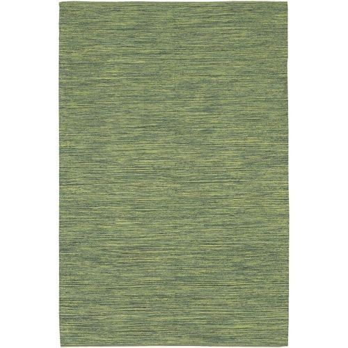Chandra Rugs India 13 Green Cotton Shag Area Rug Hand Woven in India (2 1/2 x 7 1/2 (2/2 1/2 X 7 1))