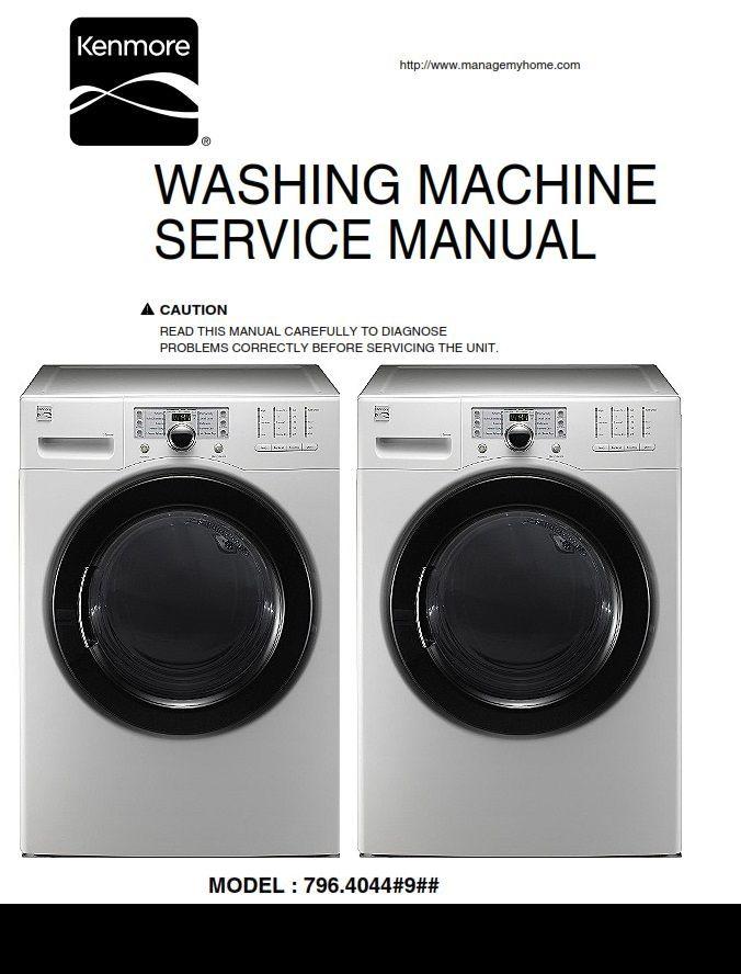 Kenmore 40441 Washer Service Manual And Repair Instructions Washing Machine Service Kenmore Kenmore Washing Machine