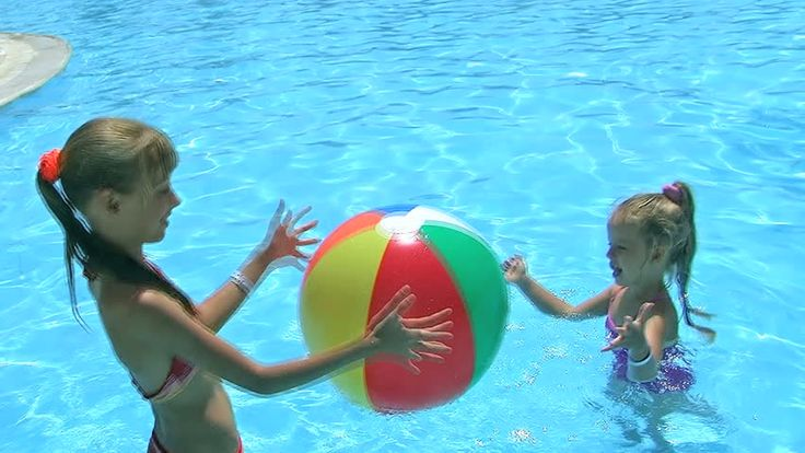 Children Playing Beach Ball in Stock Footage Video (100