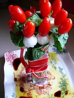 Caprese Bouquet: Caprese Ideas, Glorious Food, Twenty, 8020 Recipes, Capr Bouquets, Caprese Bouquets, Parties Ideas, Healthy Parties Appetizers, Cocktails Parties
