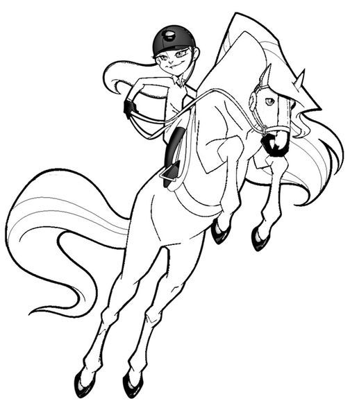 Le Ranch Colouring Pages Horseland Pinterest