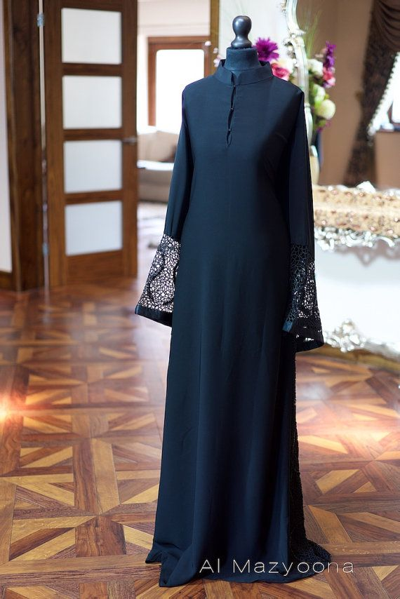 Hey, I found this really awesome Etsy listing at https://www.etsy.com/listing/238307674/al-mazyoona-black-abaya-embroidered