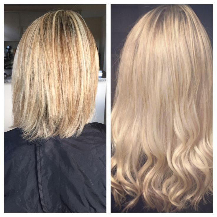 Balmain hair extensions before and after