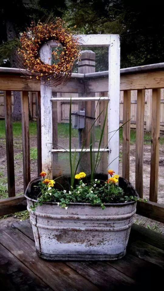 Pretty idea for landscaping decor.  | Deloufleur Decor & Designs | (618) 985-3355 | www.deloufleur.com