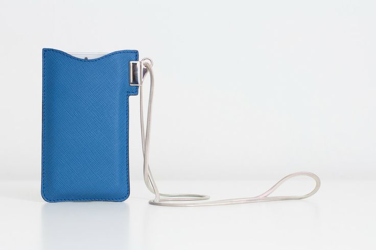 iPhone case with silver chain (blue) #margo #iphone5 #leather # accessories www.bymargo.net