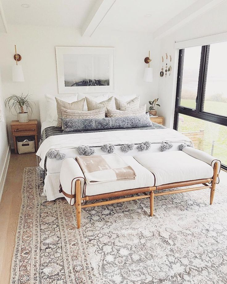 This Is What Boho Glam Bedroom Dreams Are Made Of White Walls