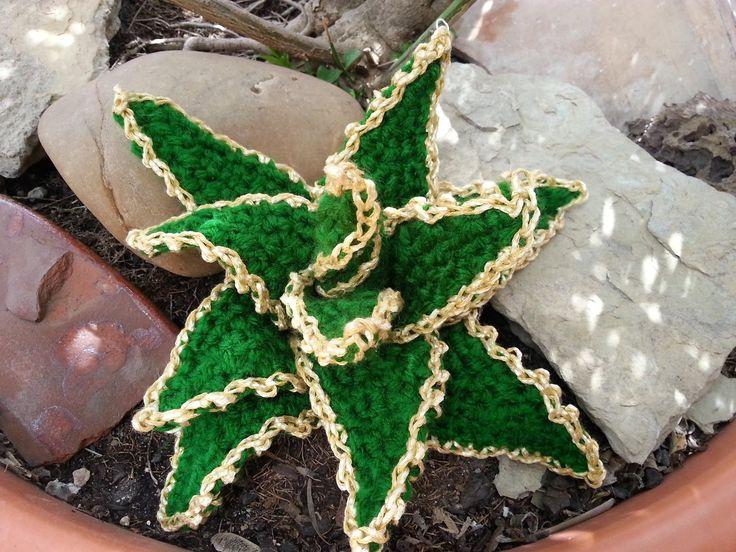 Tutorial de crochet/gancillo, cactus estrellado