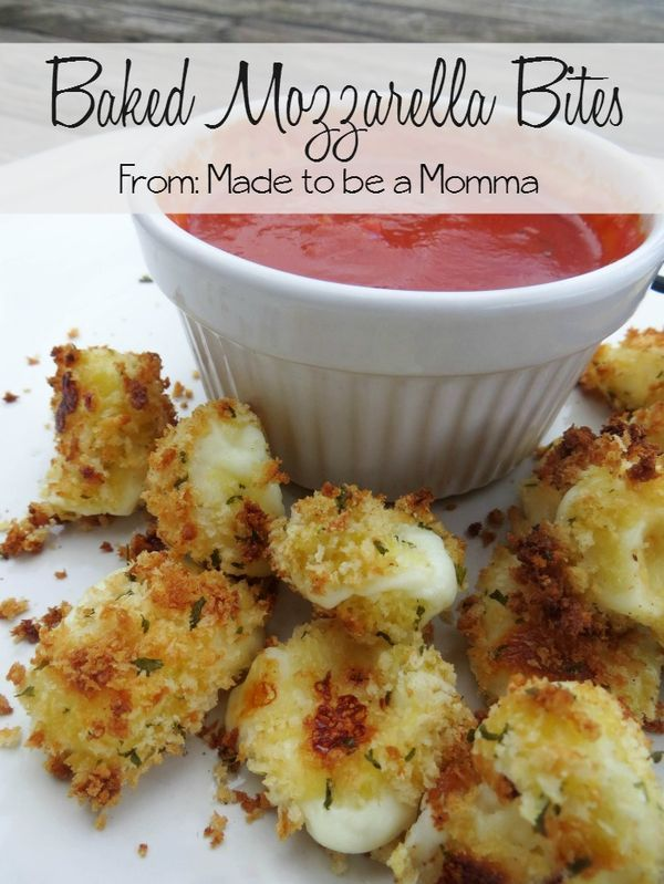 Baked Mozzarella Bites. Dip these in a great sauce for a wonderful appetizer. This recipe would be great for your next Italian dinner