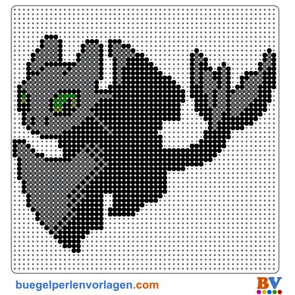 How To Train Your Dragon Perler Beads