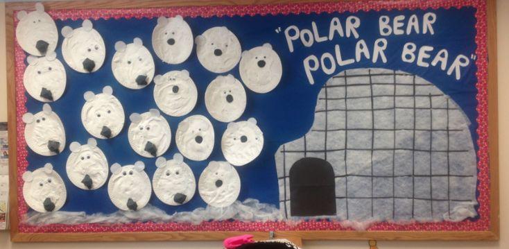 polar bear & igloo bulletin board