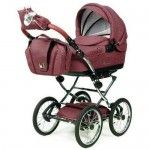 Knorr Baby Classico Pram Stroller Air Tyres bordeaux pink - Collection 2015