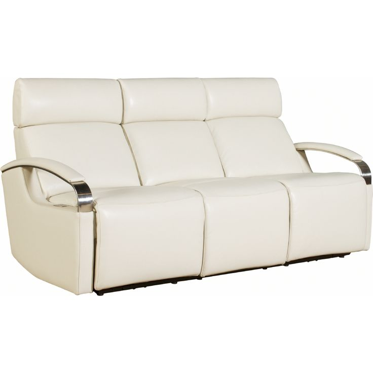 Power Sofa w/ Power Headrests in Cashmere White Leather #dynamichome #white #sofa #power #modern #contemporary #style #livingroom #lounge #homedecor #interiors #interiordesign