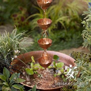 Rain Chain And Basin   Wonderful Water Feature For A Small Space
