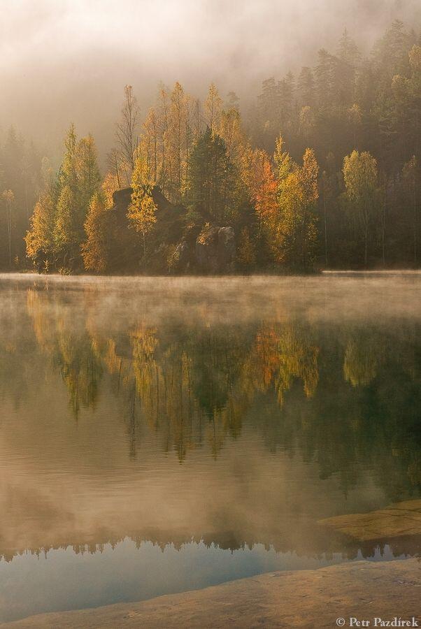 Foggy morning by Petr Pazdirek