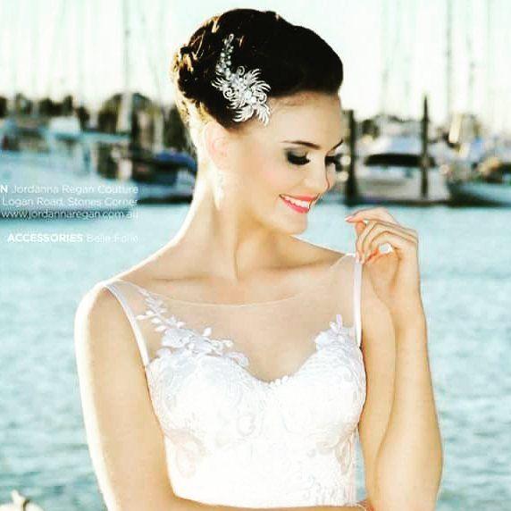 Wendy Louise Designs crystal diamante and freshwater pearls . hair and mua @velbella #bayside #beautifulbride #bridalbling #weddinglooks #glamour by wendylouisedesigns