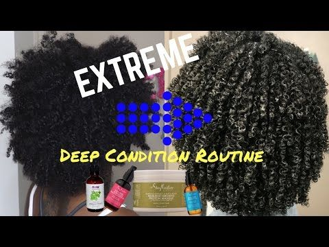 EXTREME Deep Condition Routine   Dry→Moisturized Curls!!! [Video] - Black Hair Information