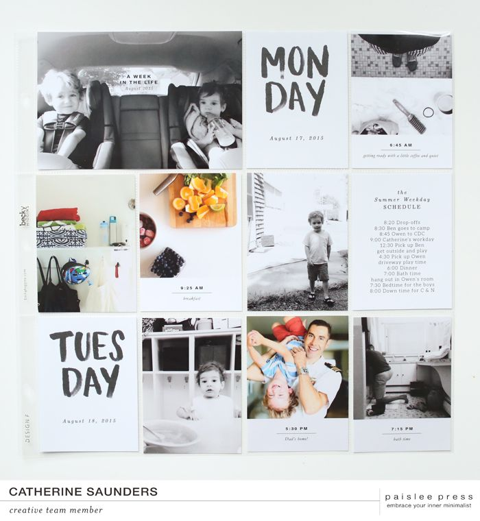 paislee press | creative team inspiration | documenting a week in the life
