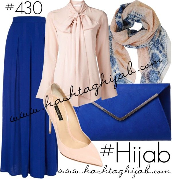 Hashtag Hijab Outfit #blue